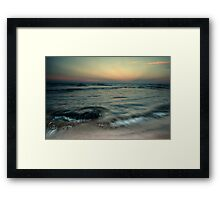 Collaroy Beach Sunset Framed Print