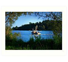 Framed Prawn Trawler Art Print
