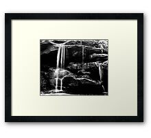 Hunts Creek Reserve Waterfall (Framed) Framed Print