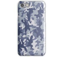 Blue camo phone case iPhone Case/Skin