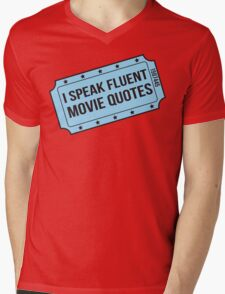 I Speak Fluent Movie Quotes Mens V-Neck T-Shirt