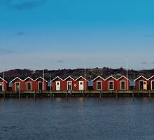 Gothenburg sea huts by Steely28