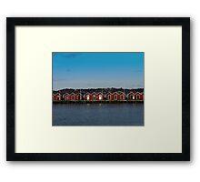Gothenburg sea huts Framed Print