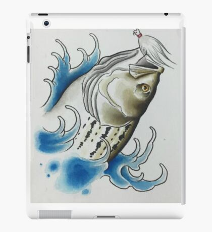 Striped Bass and Bucktail Jig iPad Case/Skin