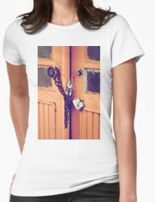 old opened door Womens Fitted T-Shirt