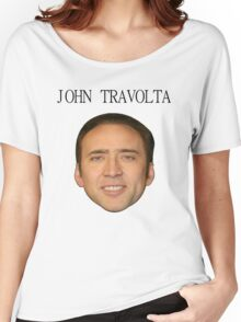 John Travolta/Nicolas Cage Face/Off Women's Relaxed Fit T-Shirt