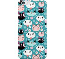 pattern of love funny cats iPhone Case/Skin