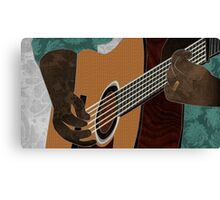 Acoustic Electric Guitar Music Canvas Print