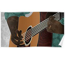 Acoustic Electric Guitar Music Poster