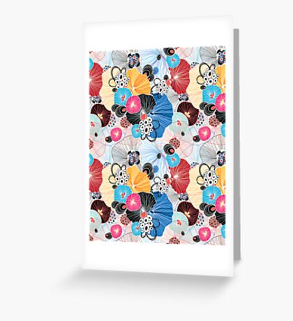 graphic pattern abstraction  Greeting Card