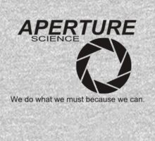 Portal Aperture Science Logo and Quote by ----User