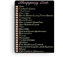 Geek Shopping List Canvas Print