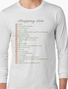 Geek Shopping List Long Sleeve T-Shirt