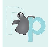 P is for Penguin (Lowercase) by Haley Luden