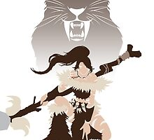 Nidalee, the Bestial Huntress by studioNdesigns
