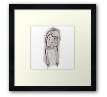 Water Color Girl Framed Print