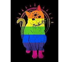 psychic kitty: rainbow Edition Photographic Print