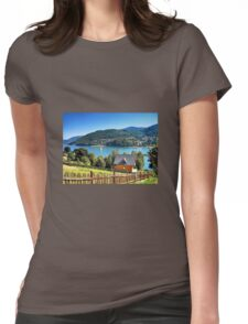Summer on the lake Womens Fitted T-Shirt