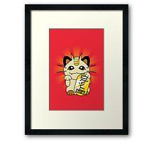 Payday Cat 2.0: More Maneki! Framed Print
