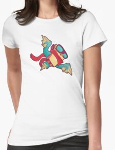 Robo Owl Womens Fitted T-Shirt