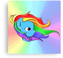 Rainbow Dash, v2 Canvas Print