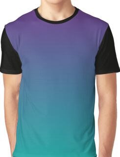 Ombre | Purple and Teal Graphic T-Shirt