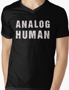 Analog Human (white) Mens V-Neck T-Shirt