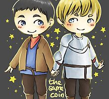 Merthur chibis - two sides of the same coin by wassereis