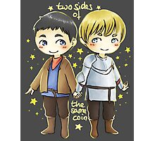 Merthur chibis - two sides of the same coin Photographic Print
