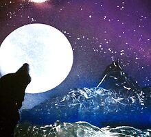 Bark at the Moon by SprayArtByDCP