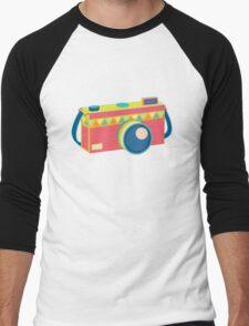 Say Cheese! - retro Camera Men's Baseball ¾ T-Shirt