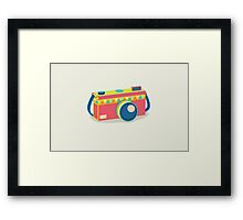 Say Cheese! - retro Camera Framed Print