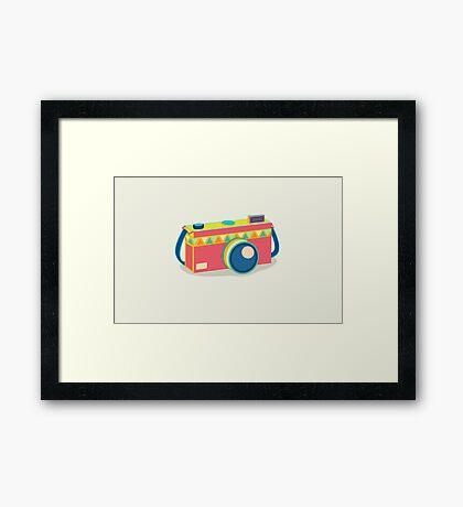 Say Cheese! - retro Camera Framed Print
