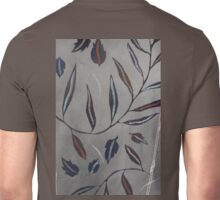 Willow Leaves. Print of Embroidered Textile Unisex T-Shirt