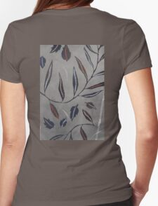 Willow Leaves. Print of Embroidered Textile Womens Fitted T-Shirt