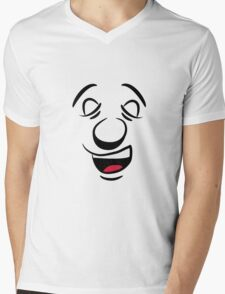 face big mouth Mens V-Neck T-Shirt
