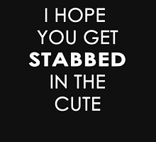 Stabbed in the Cute Womens Fitted T-Shirt
