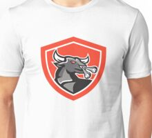 Angry Bull Head Shield Retro Unisex T-Shirt