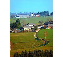 Beautiful traditional farmland scenery II | landscape photography Photographic Print