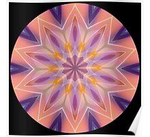 Geometric Star Shape Kaleidoscope 01 Poster