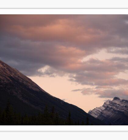 Sunset Over Mountain Sticker