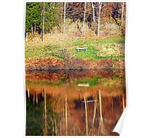 Water reflections on the river | waterscape photography Poster