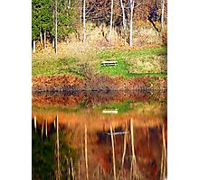 Water reflections on the river | waterscape photography Photographic Print