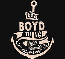 It's a BOYD shirt Unisex T-Shirt