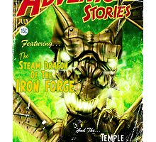 Adventure Stories The Steam Dragon of the Iron Forge by simonbreeze