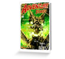 Adventure Stories The Steam Dragon of the Iron Forge Greeting Card