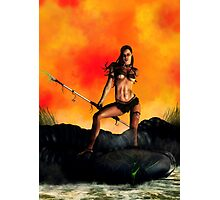 Alien Huntress Photographic Print