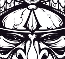 Mean Samurai mask Sticker