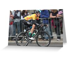Bradley Wiggins - Tour of Britain 2013 Greeting Card