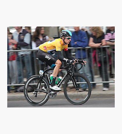 Bradley Wiggins - Tour of Britain 2013 Photographic Print